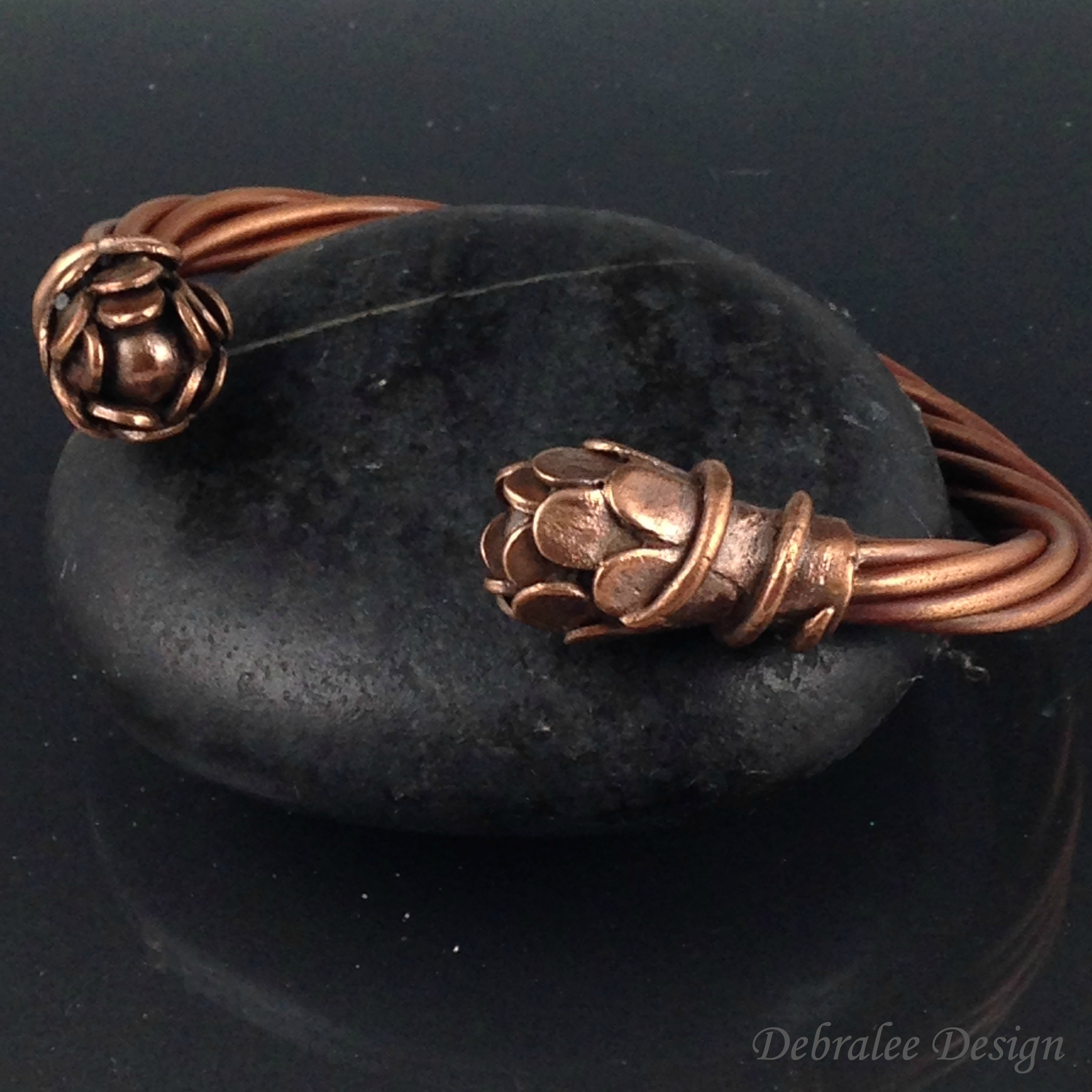 Flowering Vine Copper Bracelet