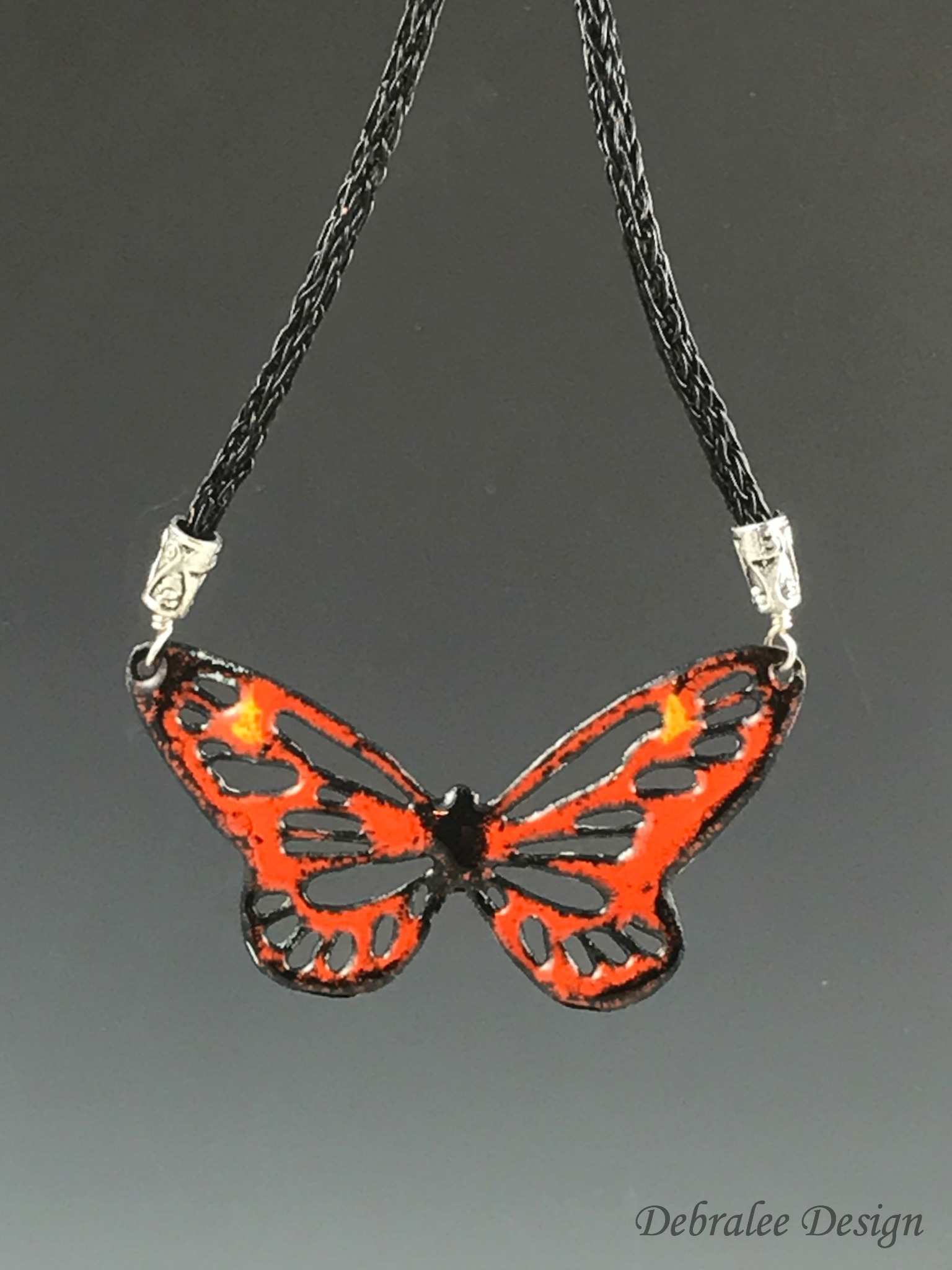 Monarch Butterfly Necklace w/earrings