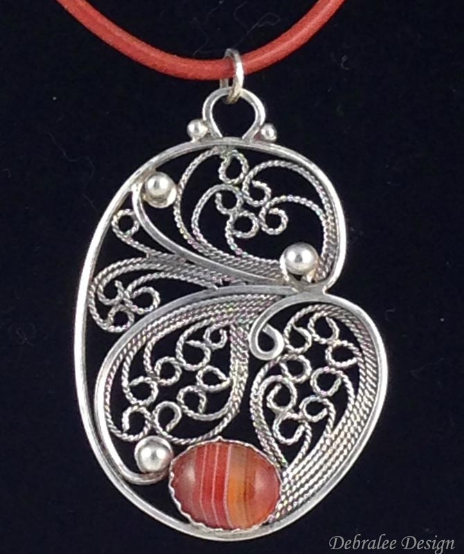 Free Form Filigree Pendent